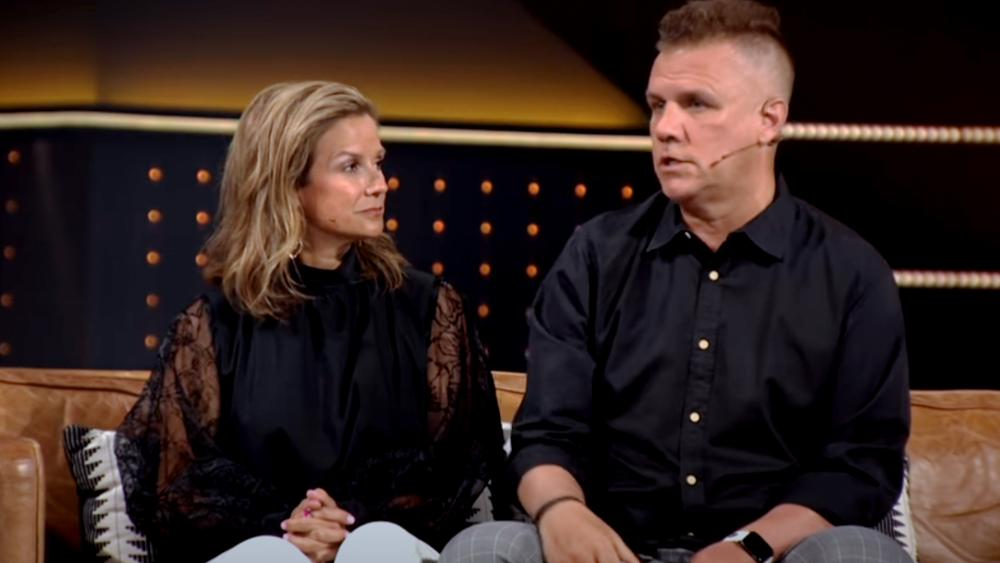 Kellee and Stuart Hall. (Screenshot credit: Andy Stanley/YouTube)