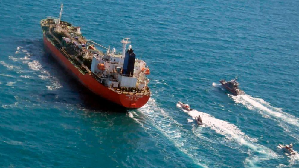Iranian Revolutionary Guard captures South Korean-flagged tanker in Strait of Hormuz (Tasnim News Agency via AP, File)