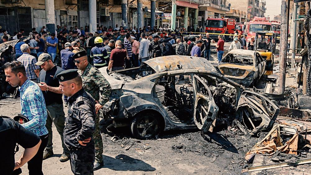 Iraq Bomb Attack AP