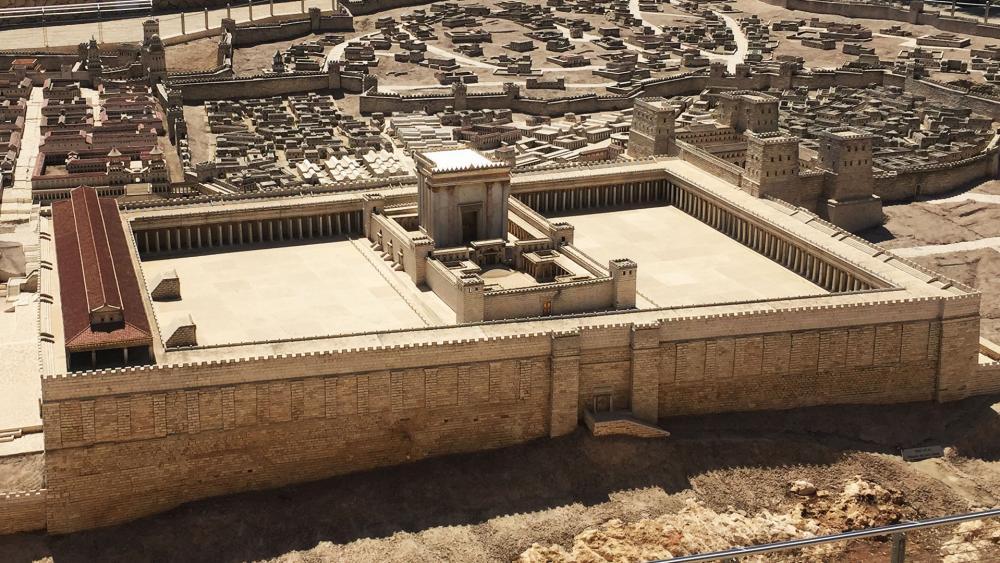 Model of Jerusalem during Second Temple times, CBN News image, Julie Stahl