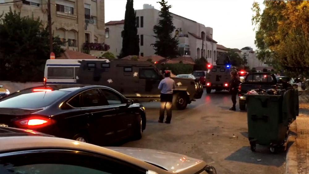 Attack at Israeli Embassy in Amman, Screen Capture