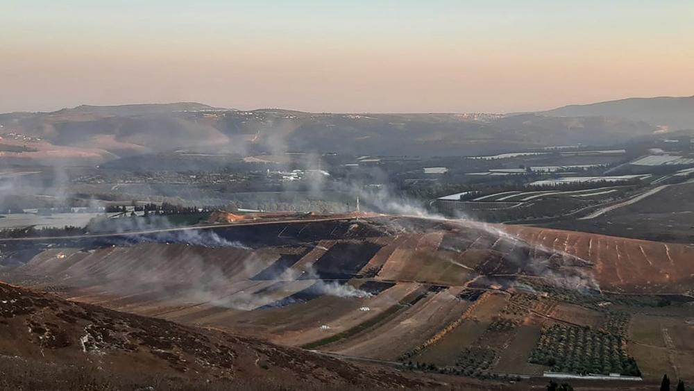 The Lebanese army says Israeli forces have fired some 40 shells following an attack by the militant Hezbollah group on Israeli troops (AP Photo/Mohammed Zaatari)