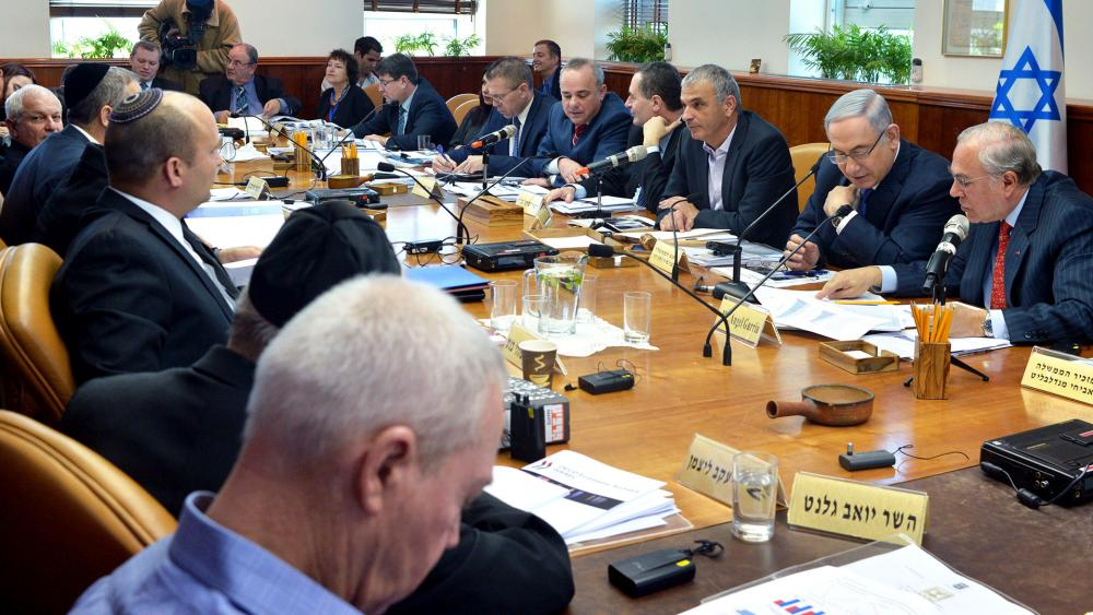 Israeli Cabinet Meeting, Photo, GPO archive, Kobi Gideon