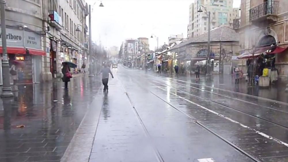 Rain in Jerusalem, Screen Capture, Jewish Press TV