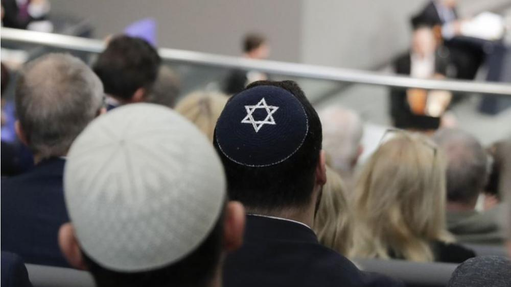 Israeli President Reuven Rivlin said Sunday he is shocked by a statement by Felix Klein, the government's anti-Semitism commissioner, that he wouldn't advise Jews to wear skullcaps in parts of the country for their safety. (AP Photo/Markus Schreiber)