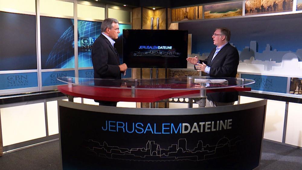 Chris Mitchell and Joel Rosenberg, Photo, CBN News, Jonathan Goff