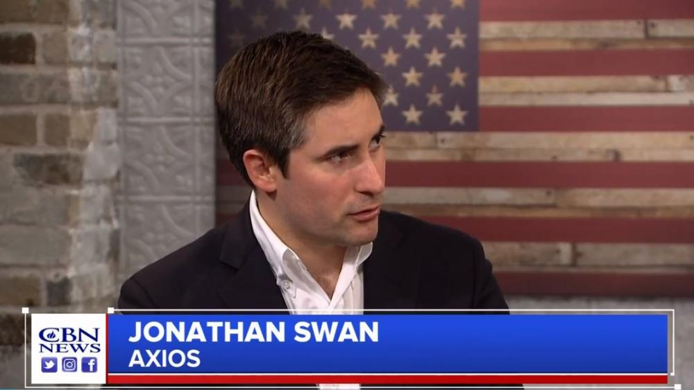 Axios Reporter Jonathan Swan. (Image credit: CBN News)