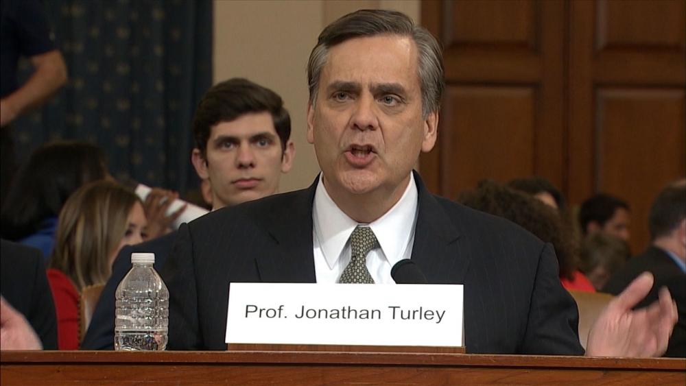 Prof. Jonathan Turley of George Washington University Law School testifies in House impeachment hearing.