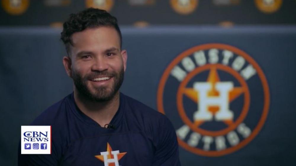 Houston Astros' Second Baseman Jose Altuve. (image credit: CBN News)