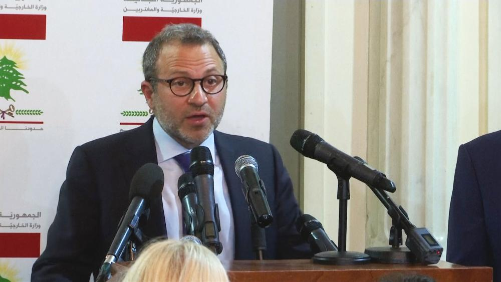 Lebanese Foreign Minister Gebran Bassil, AP Screen Capture