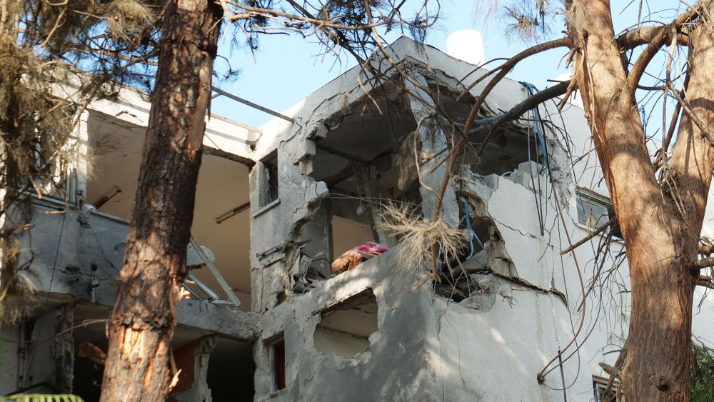 Rocket Damage in Ashkelon, Photo, CBN News, Jonathan Goff