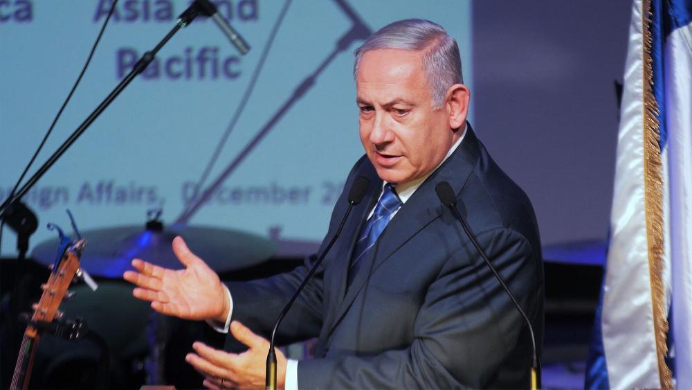 Israeli Prime Minister Benjamin Netanyahu Addresses Foreign Journalists, Photo, CBN News, Jonathan Goff