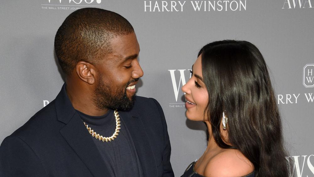 Kanye West and Kim Kardashian. (AP Photo)