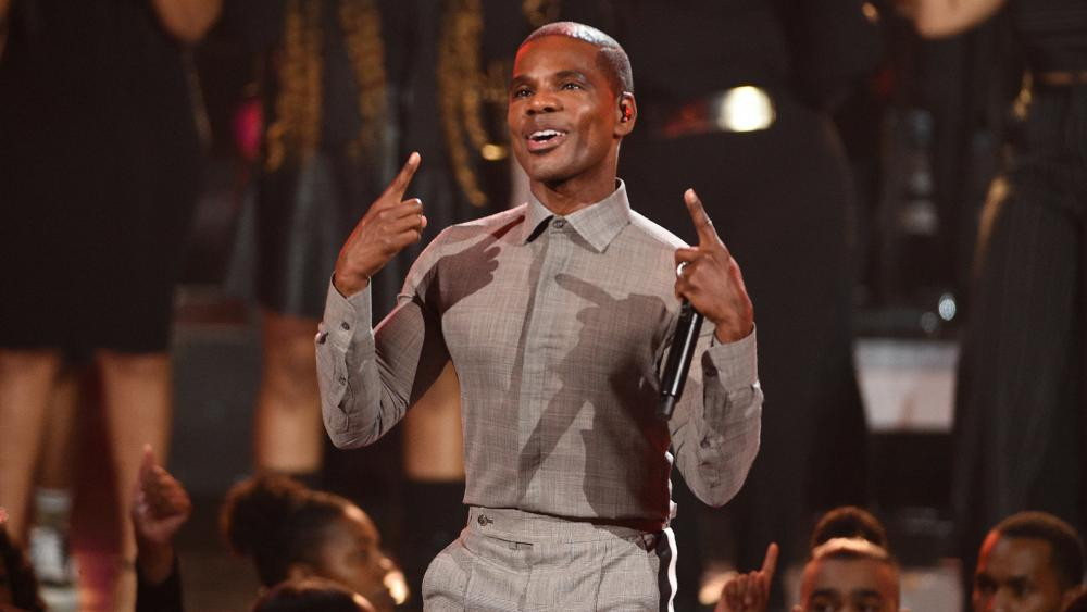 Kirk Franklin performs at the BET Awards on June 23, 2019, at the Microsoft Theater in Los Angeles. (Photo by Chris Pizzello/Invision/AP)
