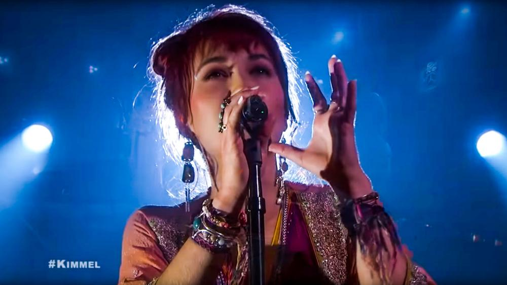 "Lauren Daigle performs on ABC's ""Jimmy Kimmel Live."" (Image credit; Jimmy Kimmel Live/YouTube)"