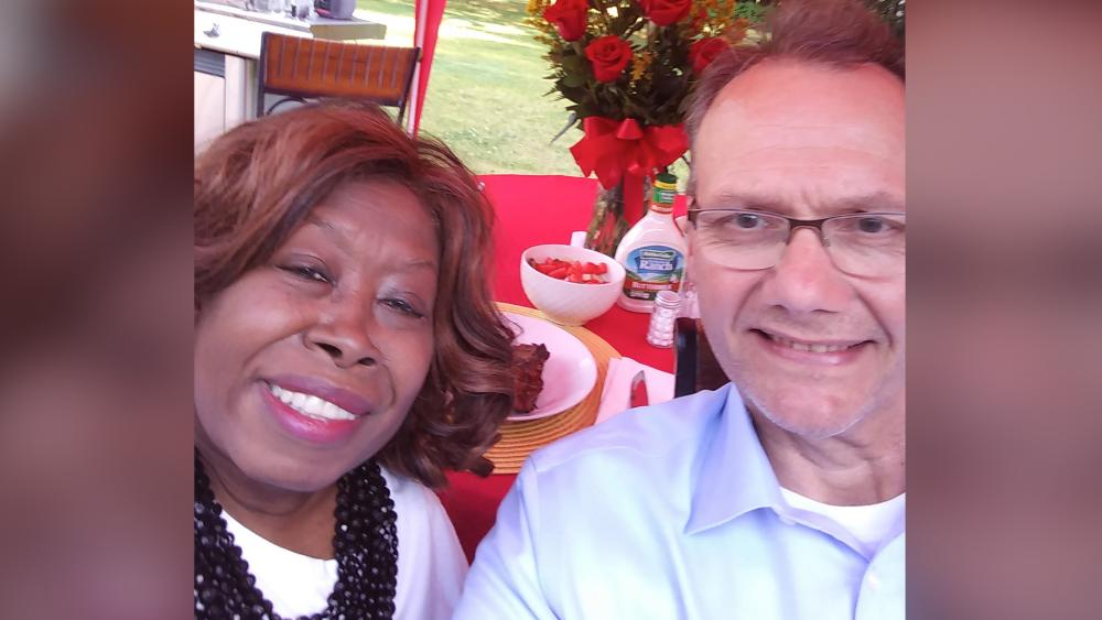 Leonard Himes told CBN News about his wife Claudette's miraculous healing (Family photo)