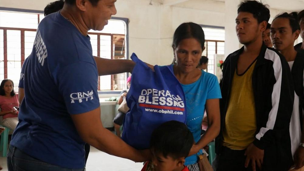 Operation Blessing is helping Taal Volcano victims in the Philippines.