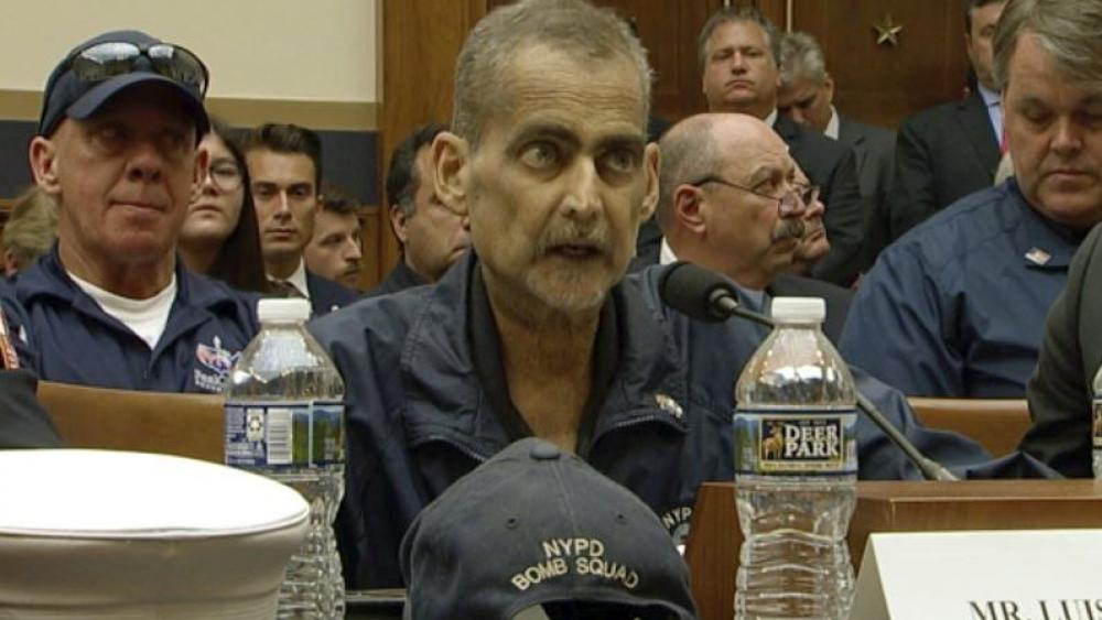 Still image of Retired NYPD Detective and 9/11 Responder, Luis Alvarez speaks during a House Judiciary Committee hearing as it considers permanent authorization of the Victim Compensation Fund,  Tuesday, June 11, 2019. (US Network Pool via AP)