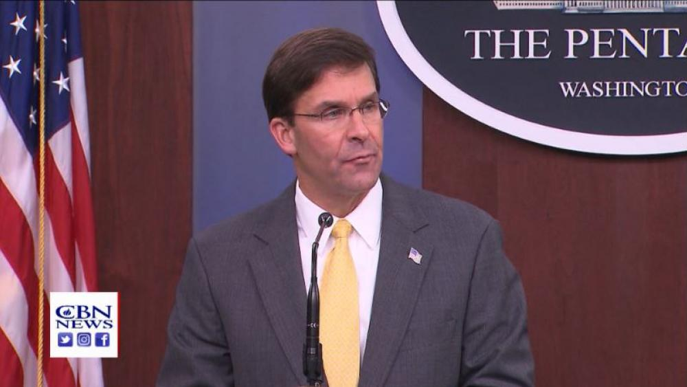 US Secretary of Defense Mark Esper. (Image credit: CBN News)