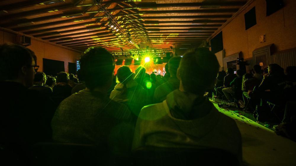 Mega Church worship service