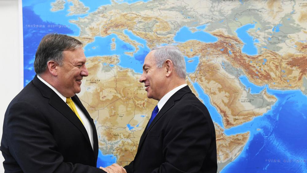 Israeli Prime Minister Benjamin Netanyahu and US Secretary of State Mike Pompeo