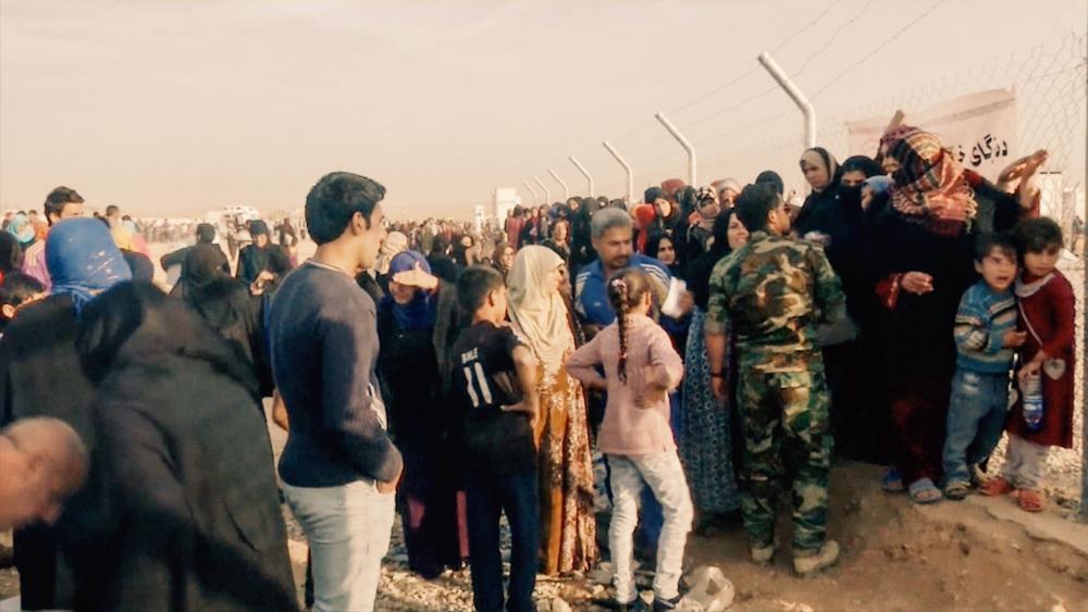Mosul refugees, CBN News image, Jonathan Goff