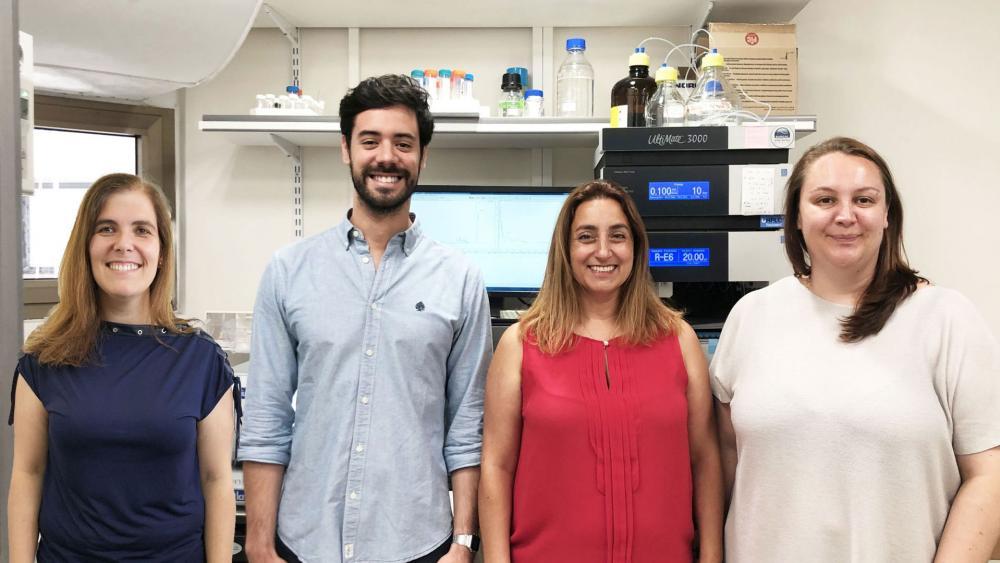 Picture of the researchers team: (Left to right): Prof. Helena Florindo, Dr João Conniot, Prof.  Ronit Satchi-Fainaro, Dr Anna Scomparin. Photo: Galia Tiram.