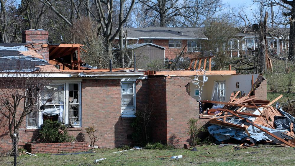 Nashville tornado damage (Photo: CBN News)