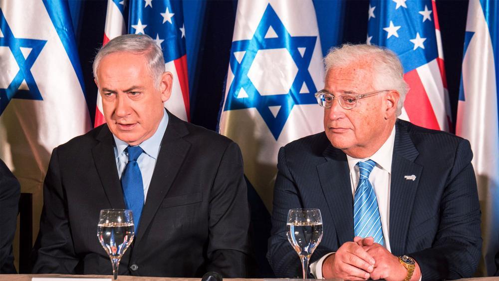 Israeli Prime Minister Benjamin Netanyahu with U.S. Ambassador David Friedman, Photo, CBN News