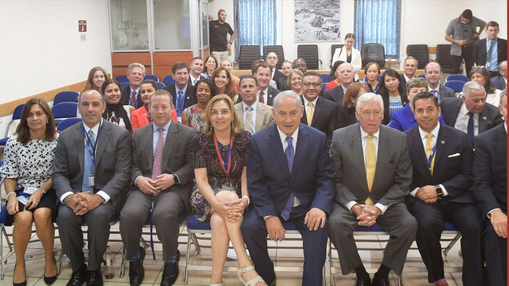 Members of the US House of Representatives with Israeli PM Netanyahu in Jerusalem, Photo, GPO, Amos Ben Gershom