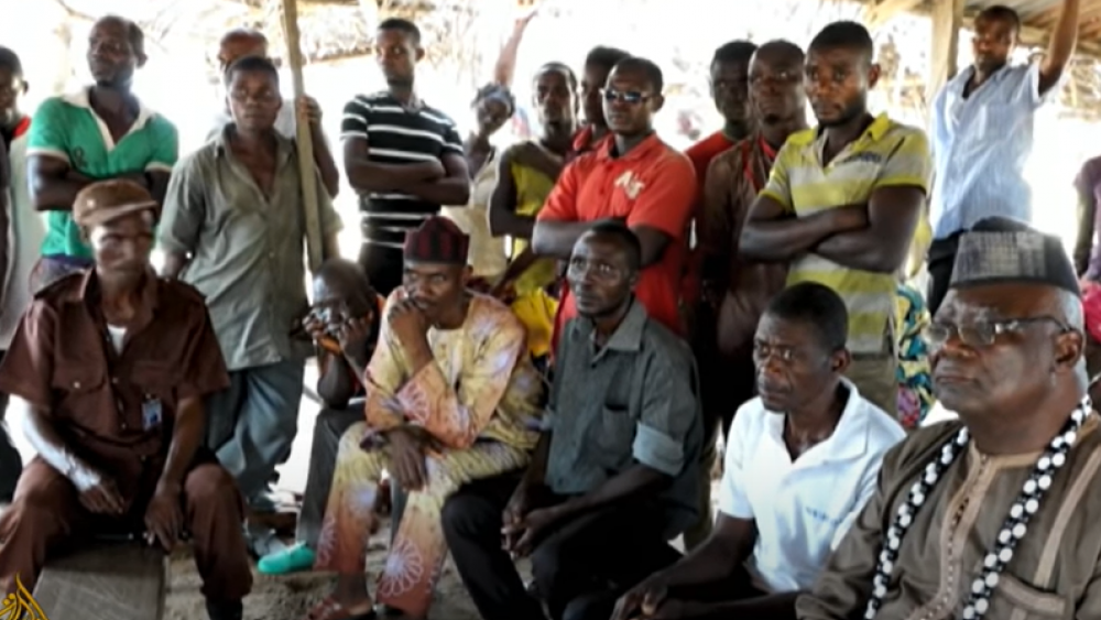 YouTube Screenshot/Al Jazeera English: Nigerian residents gather after Fulani blamed for attack on church
