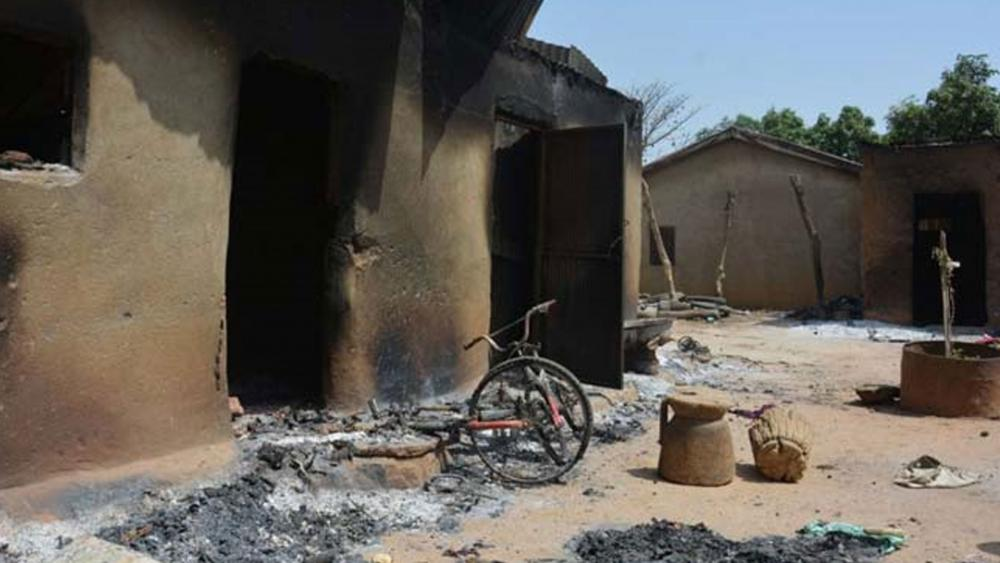 Photo showing houses in the Karamai village in Nigeria that were burned in a Fulani miltia attack. (Image courtesy: Barnabus Fund)