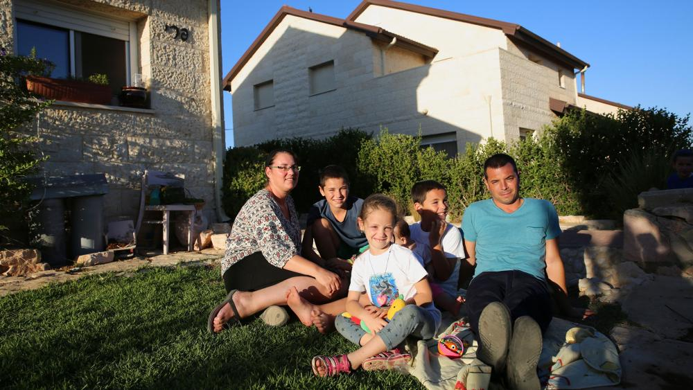 Israeli Family in Ofra, Samaria, Courtesy TPS, Hillel Maeir