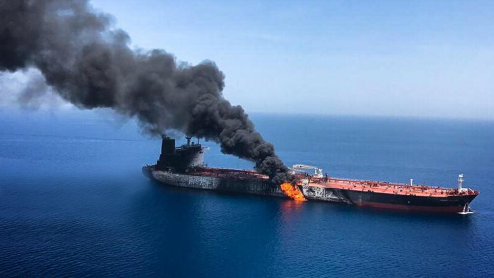oil tanker iran on fire