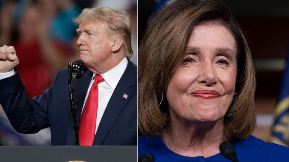President Donald Trump and House Speaker Nancy Pelosi (AP Photos)