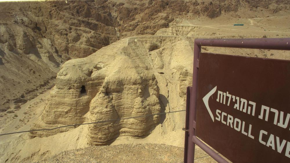Scroll Cave in Qumran near the Dead Sea, Courtesy GPO, Moshe Milner