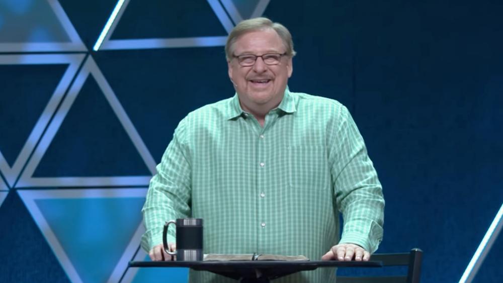 Image Source: YouTube Screenshot/Saddleback Church
