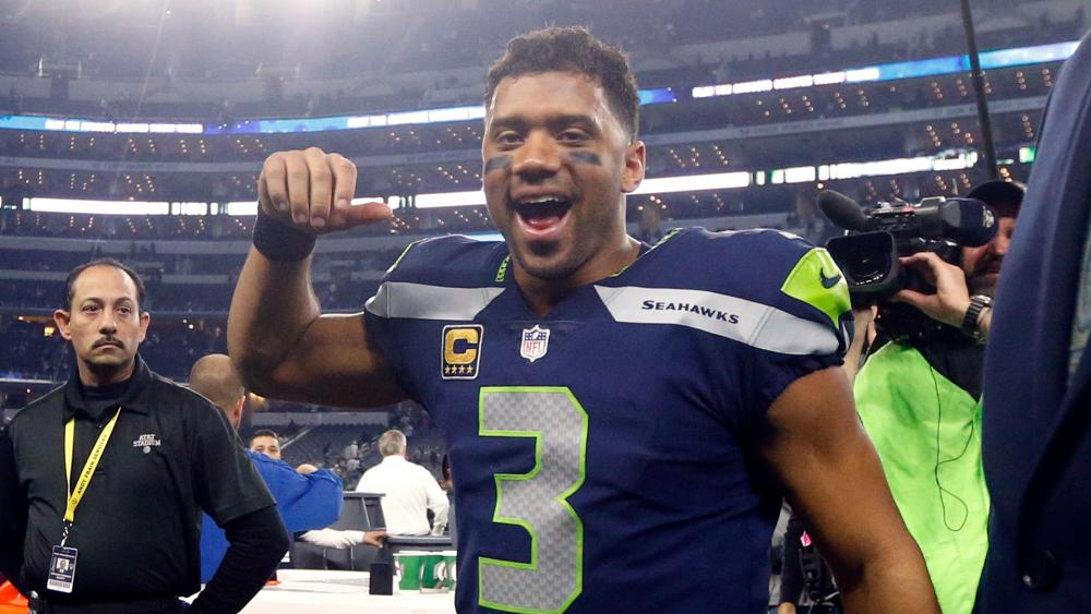 """Russell Wilson Becomes Fastest NFL Quarterback to Reach 100 Wins, Gives Jesus Christ  """"ALL the Glory"""""""
