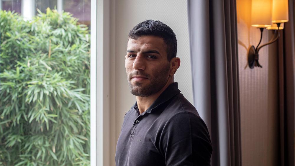 Iranian Judoka Saeid Mollaei from an undisclosed location in Germany/ Associated Press