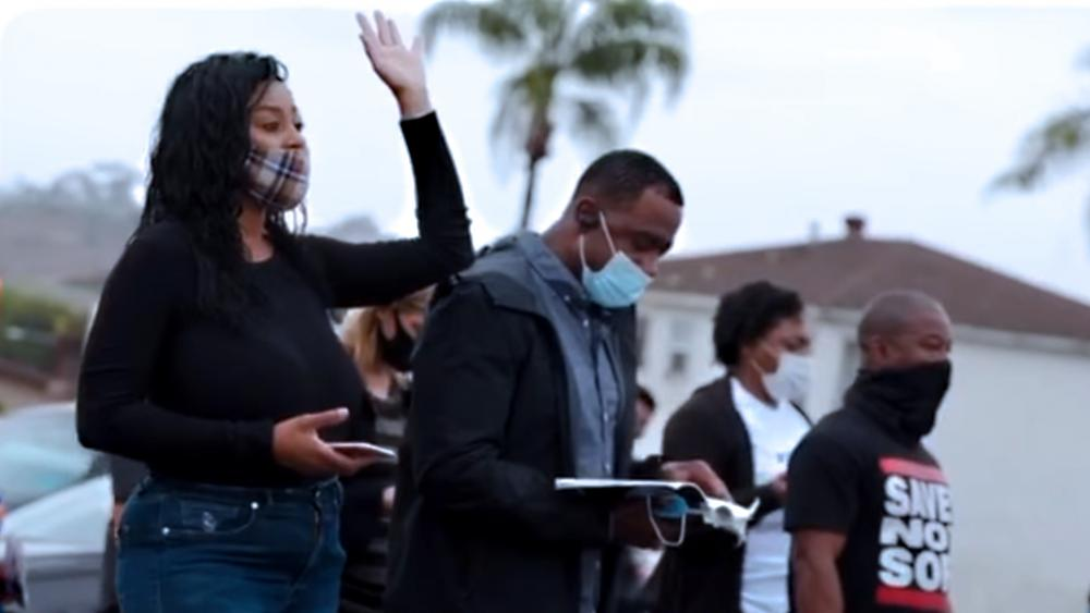 "Christians seeking God during ""We Pray San Diego"" (Screen capture via Rock Church San Diego Facebook video)"