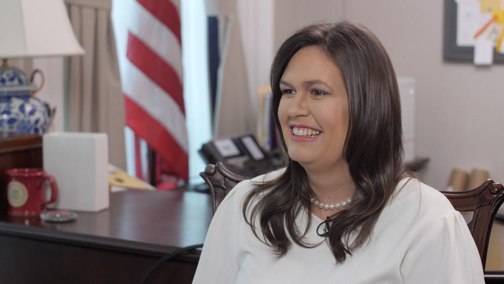 White House Press Secretary Sarah Sanders. (Image: CBN News)