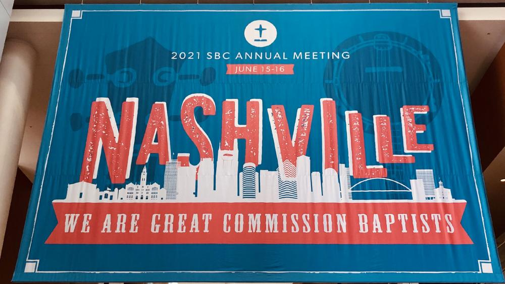 The Southern Baptist Convention is meeting in Nashville (Photo courtesy SBC Executive Committee via Twitter)