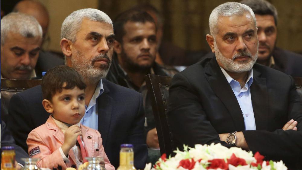 Hamas Leaders Yahya Sinwar and Ismail Haniyeh, Photo, Courtesy SBS Screen Capture
