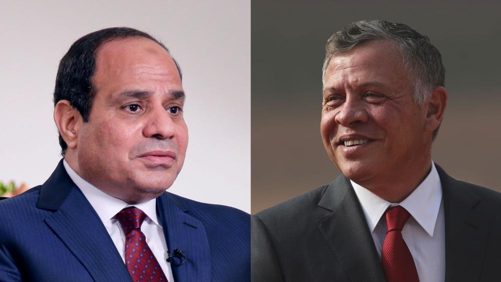 Egyptian President Abdel Fattah el-Sisi (left) and Jordanian King Abdullah II, Image, CBN News