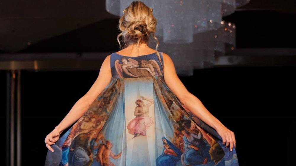 The Sistine Chapel Dress. (Image Credit: CBN News)