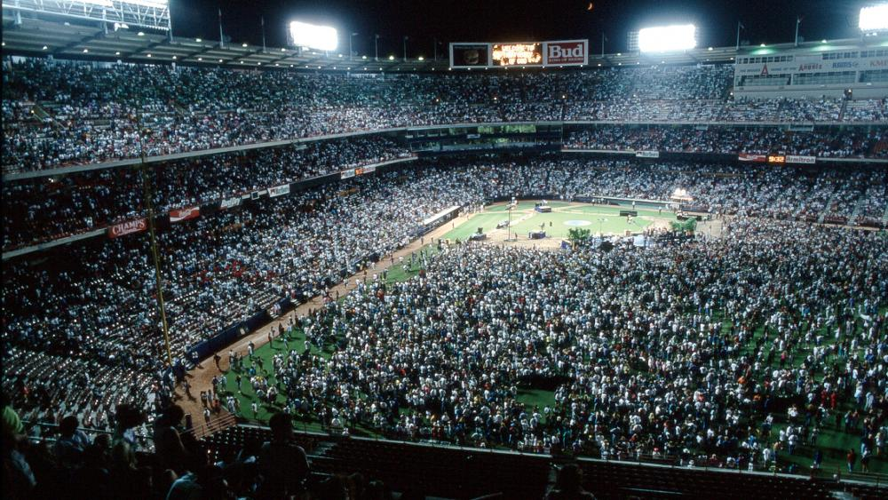 One of the first SoCal Harvest Crusades in the early 1990s