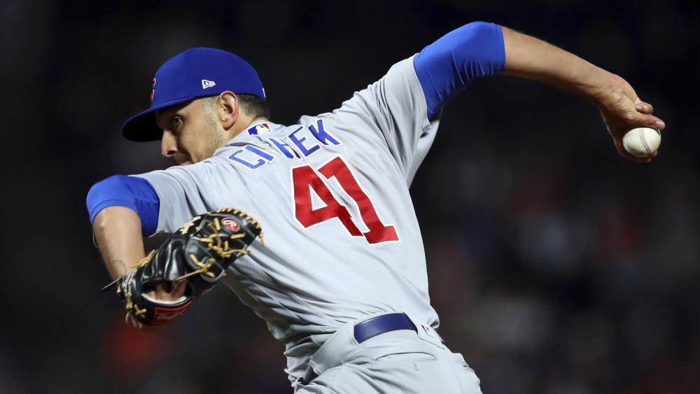 Chicago Cubs relief pitcher Steve Cishek.  (AP Photo)