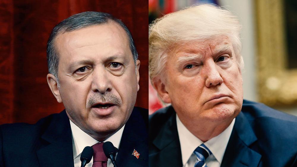 Turkish President Recep Tayyip Erdogan and US President Donald Trump, AP photo