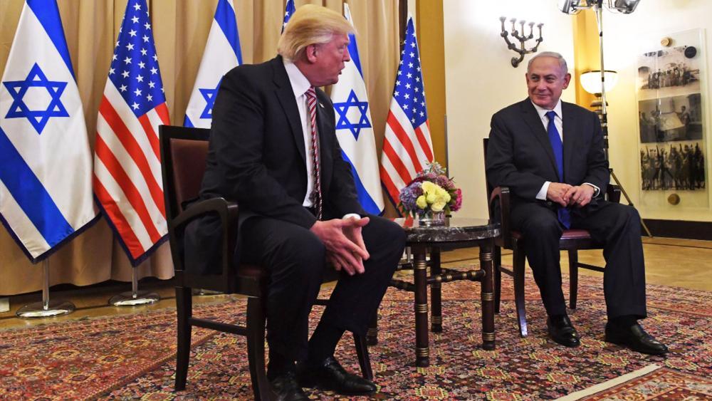 President Donald Trump with Israeli Prime Minister Benjamin Netanyahu, Photo, GPO archive