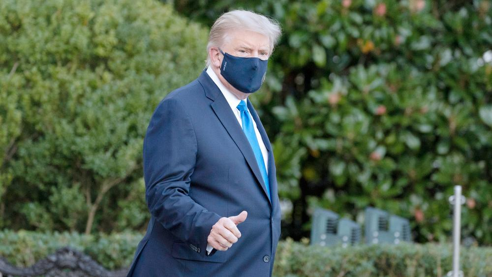 President Trump heading to Walter Reed